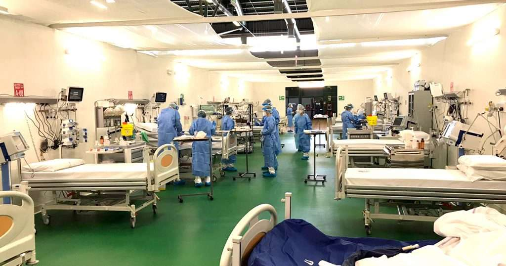 Allestimento Ospedale in zona Fiera Bergamo.